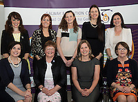 Reading Recovery Teacher Training graduates, Moirin O'Donovan, Deirdre Fenton, Clare Balfe, Sibylline Colbert and Sinead Carroll with seated Madge Bourke, (Sr Helen Diviney) , Catherine Lambe and Tina Conneelly at a reception in the Galway education centre. Photo:Andrew Downes XPOSURE .