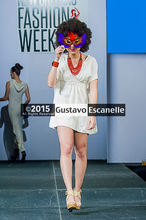 NEW ORLEANS FASHION WEEK 2015: Skin Tone Clothing Line showcasing his design at the New Orleans Fashion Week at the New Orleans Board of Trade on Thursday March 26th, 2015. ©2015, Gustavo Escanelle, All Rights Reserved. ©2015, MOI MAGAZINE, All Rights Reserved.