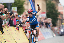 Hayley Simmonds (GBR) of Team WNT wins Stage 3 of the Lotto Thuringen Ladies Tour - a 124 km road race, starting and finishing in Weimar on July 15, 2017, in Thuringen, Germany. (Photo by Balint Hamvas/Velofocus.com)
