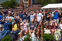 The Brickyard crowd awaits the solar eclipse on August 21, 2017.
