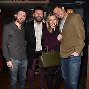London,UK, 22th January 2015 : Dj Dan Perry wearing a hat (L) and Jeremy Edwards (R) attends the House of Ho 1st Birthday Party at Soho, London. Photo by See Li
