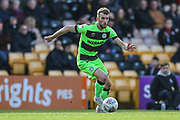Forest Green Rovers Christian Doidge(9) runs forward during the EFL Sky Bet League 2 match between Port Vale and Forest Green Rovers at Vale Park, Burslem, England on 23 March 2019.