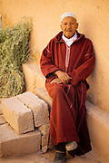KELAAT M'GOUNA, MOROCCO - 14TH MAY 2016 - Portrait a local to Kelaat M'Gouna, Dades Valley - also known as the 'valley of roses' - Southern Morocco.