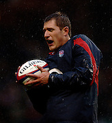 2005 Rugby, Investec Challenge, England vs Manu Samoa, James Forrester, catch's the line out ball, during the pre match warm up.  RFU Twickenham, ENGLAND:     26.11.2005   © Peter Spurrier/Intersport Images - email images@intersport-images..