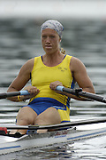 Poznan, POLAND.  2006, FISA, Rowing, World Cup, SWE  W1X,  Frida SVENSSON, moves  away from  the  start, on the Malta  Lake. Regatta Course, Poznan, Thurs. 15.05.2006. © Peter Spurrier   .[Mandatory Credit Peter Spurrier/ Intersport Images] Rowing Course:Malta Rowing Course, Poznan, POLAND