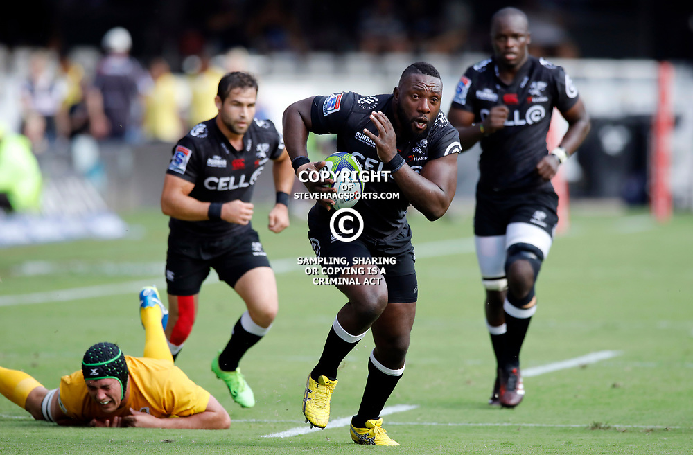 Beast Mtawarira of the Cell C Sharks during the Super Rugby match between the Cell C Sharks and the Jaguares at Growthpoint Kings Park, April 8th 2017 -  Durban South Africa Photo by AL NICOLL (Steve Haag Sports)