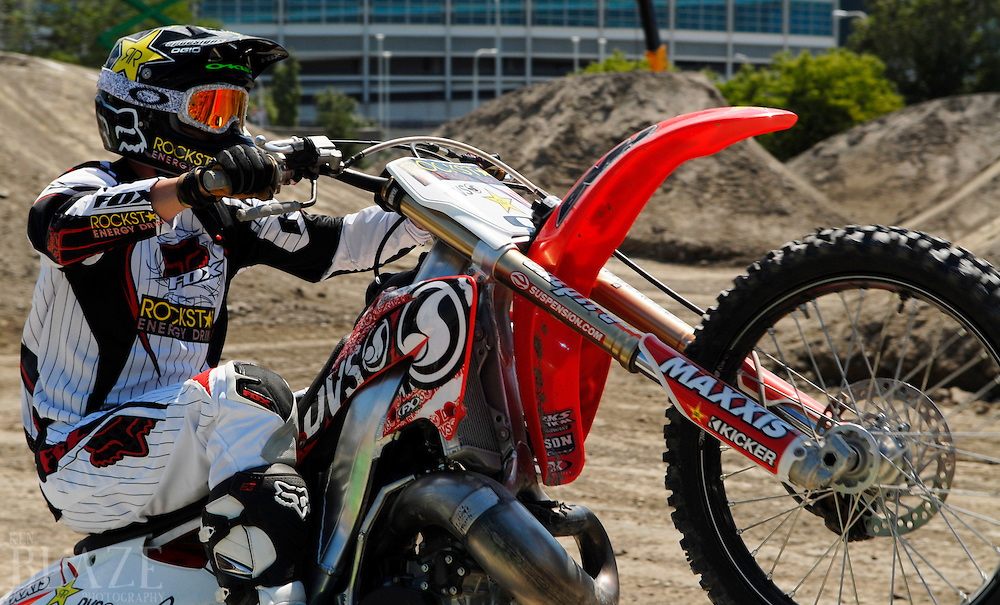 Mike Mason at the FMX Finals at the AST Dew Tour Right Guard Open in Cleveland...Photo by Ken Blaze