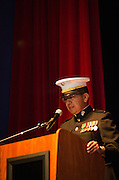 Marvin Trujillo Jr. Veterans Program Director Pueblo of Laguna and former First Lieutenant Marine Corps served as master of ceremonies for the morning presentations held in the Main Ballroom of the Route 66 Hotel and Casino.