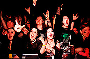 """Nu Metal """"Cradle Of Filth"""" fans shout and scream, UK, 2000s."""