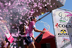 Megan Guarnier is back in pink with three stages to go at Giro Rosa 2016 - Stage 6. A 118.6 km road race from Andora to Alassio, Italy on July 7th 2016.