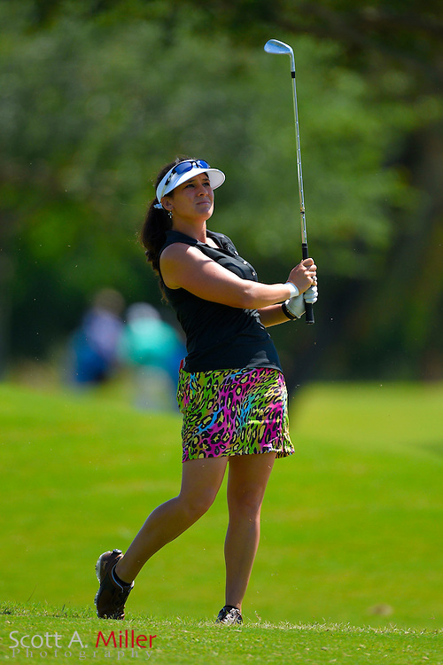 Rachel Rohanna during the final round of the Chico's Patty Berg Memorial on April 19, 2015 in Fort Myers, Florida. The tournament feature golfers from both the Symetra and Legends Tours.<br /> <br /> &copy;2015 Scott A. Miller