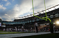 The Minnesota Vikings line up an extra point against the New England Patriots in the second quarter at Gillette Stadium in Foxboro, Massachusetts on October 31, 2010.  The Patriots defeated the Vikings 28-18.    UPI/Matthew Healey