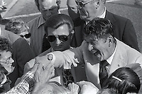 1976, Florida, USA --- Republican presidential candidate Ronald Reagan shakes hands with supporters at a rally during his campaign for the 1976 Florida presidential primary. --- Image by © Owen Franken/CORBIS