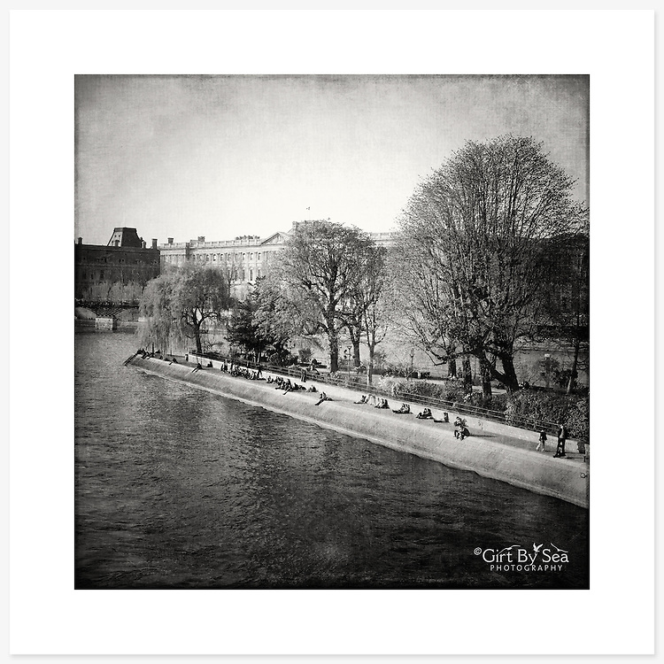La Seine, Paris, France - Monochrome version. Inkjet pigment print on Canson Infinity Rag Photographique 310gsm 100% cotton museum grade Fine Art and photo paper.<br /> <br /> 8x8&quot; Prints: First print $49. Additional prints in same order $29. (A half inch white border is added for safe handling. Size with border 9x9&rdquo;).<br /> <br /> Frame-Ready Prints: Add $29 per print. Includes mounting on 12x12&rdquo; foam-board, plus white matboard with 8x8&rdquo; photo opening. Suits standard 12x12&rdquo; frames.<br /> <br /> Price includes GST &amp; postage within Australia. <br /> <br /> Order by email to orders@girtbyseaphotography.com  quoting image title or reference number, your contact details, delivery address &amp; preferred payment method (PayPal or Bank Deposit). You will be invoiced by return email. Normally ships within 7 days of payment.