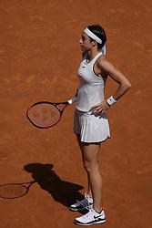 May 11, 2018 - Madrid, Spain - Caroline Garcia against Kiki Bertens  during day seven of the Mutua Madrid Open tennis tournament at the Caja Magica on May 11, 2018 in Madrid, Spain. (Credit Image: © Oscar Gonzalez/NurPhoto via ZUMA Press)