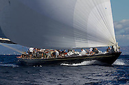 FRANCE, St Tropez. 30th September 2013. Voiles de St Tropez. Shamrock V, (K3).