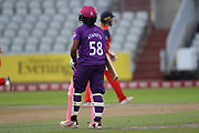 \ during the Women's Cricket Super League match between Lancashire Thunder and Loughborough Lightning at the Emirates, Old Trafford, Manchester, United Kingdom on 20 August 2019.
