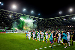Players during football match between NK Olimpija Ljubljana and NK Maribor in 7th Round of Prva liga Telekom Slovenije 2017/18, on August 27, 2017 in SRC Stozice, Ljubljana. Photo by Ziga Zupan / Sportida