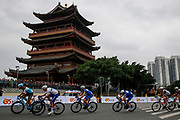 Fabio Jakobsen (NED - QuickStep - Floors), Maximilian Schachmann (GER - QuickStep - Floors), Remi Cavagna (FRA - QuickStep - Floors) during the Tour of Guangxi 2018, Stage 3, Nanning - Nanning (125,4 km) on October 18, 2018 in Nanning, China - photo Luca Bettini / BettiniPhoto / ProSportsImages / DPPI