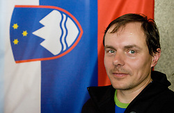 Coach of Slovenian bronze medalist cross-country skier P. Majdic Ivan Hudac at arrival to Airport Joze Pucnik from Vancouver after Winter Olympic games 2010, on March 1, 2010 in Brnik, Slovenia. (Photo by Vid Ponikvar / Sportida)