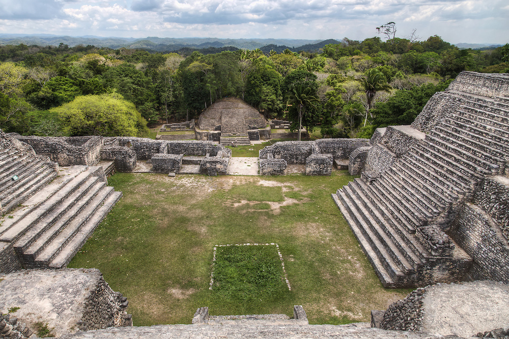View from the top of Caana, Caracol, Belize