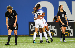 September 19, 2017 - Cincinnati, OH, USA - Cincinnati, OH - Tuesday September 19, 2017: Mallory Pugh, Alex Morgan celebrate during an International friendly match between the women's National teams of the United States (USA) and New Zealand (NZL) at Nippert Stadium. (Credit Image: © Brad Smith/ISIPhotos via ZUMA Wire)