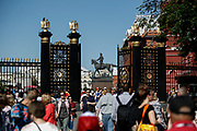 Marechal Georgy Zhukov monument in front of the Historical Museum in Red Square during the 2018 FIFA World Cup Russia on June 15, 2018 in Moscow, Russia - Photo Thiago Bernardes / FramePhoto / ProSportsImages / DPPI