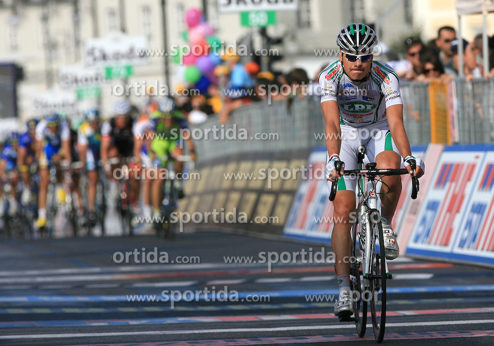Jure Golcer (SLO) of LPR team placed 52nd at finish line of 2nd stage of 92nd Giro d'Italia in Trieste, on May 10, 2009, in Trieste, Italia.  (Photo by Vid Ponikvar / Sportida)