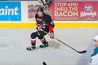 KELOWNA, CANADA - FEBRUARY 9: Jansen Harkins #12 of Prince George Cougars skates against the Kelowna Rockets on February 9, 2015 at Prospera Place in Kelowna, British Columbia, Canada.  (Photo by Marissa Baecker/Shoot the Breeze)  *** Local Caption *** Jansen Harkins;