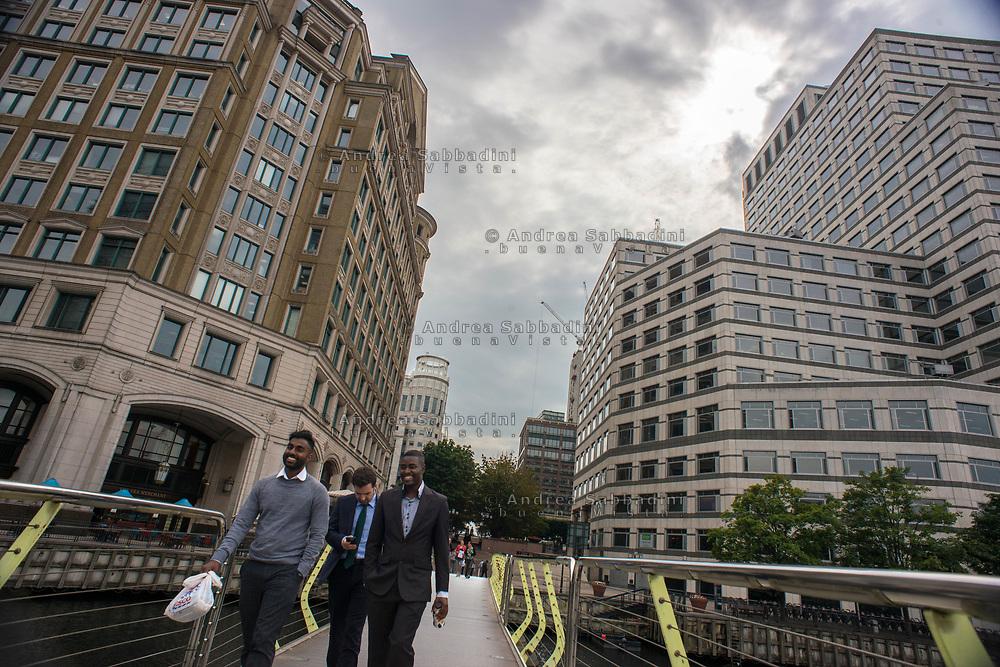 London, 23/08/2017: Canary Wharf finantial district, Tower Hamlet.<br /> &copy; Andrea Sabbadini