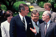 President H.W. Bush and national security advisor Brent Scowcroft <br /> Photo by Dennis Brack