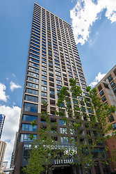 Residential highrise completed in 2017 - Exhibit on Superior in Chicago at 165 W. Superior, 60654