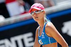 Sara Sakovic of Slovenia at A1 Beach Volleyball Grand Slam presented by ERGO tournament of Swatch FIVB World Tour 2012, on July 17, 2012 in Klagenfurt, Austria. (Photo by Matic Klansek Velej / Sportida)