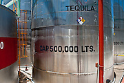 500,000-liter tequila storage containers at the Casa Sauza distillery in Tequila.