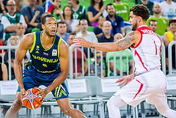 Anthony Randolph of Slovenia during basketball match between National teams of Slovenia and Turkey in Round #8 of FIBA Basketball World Cup 2019 European Qualifiers, on September 17, 2018 in Arena Stozice, Ljubljana, Slovenia. Photo by Ziga Zupan / Sportida