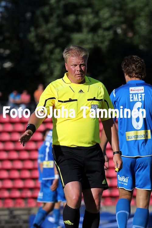 19.07.2010, Ratina, Tampere..Veikkausliiga 2010, Tampere United - AC Oulu..Erotuomari Mika Koskinen.©Juha Tamminen.