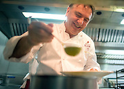 © Licensed to London News Pictures. 03/11/2014. Oxford, UK. RAYMOND BLANC in his kitchen. To celebrate National School Meals Week (3-7 November), the Deputy Prime Minister, Nick Clegg, joins school children at Brasserie Blanc in Oxford to get some top cooking tips from Raymond Blanc. The visit is part of a larger national effort to raise awareness of and enhance children's relationship with food. The Deputy Prime Minister has called on celebrity chefs to lead the way by joining forces with school cooks to promote the great school lunch. School cooks up and down the country will be taking their skills out of the school kitchen to showcase to parents and pupils the variety and quality of food now being served in schools. National School Meals Week comes just months after the launch of free school meals for 2.8 million primary school children and the introduction of cooking in the curriculum.. Photo credit : Stephen Simpson/LNP
