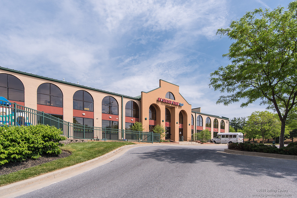 Exterior Image of 100 Painters Mill in Owings Mills Maryland by Jeffrey Sauers of Commercial Photographics, Architectural Photo Artistry in Washington DC, Virginia to Florida and PA to New England