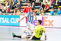 Benfica's Alessandro Patias and Juanjo during UEFA Futsal Cup 2015/2016 3º/4º place match. April 22,2016. (ALTERPHOTOS/Acero)