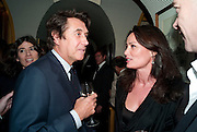 BRYAN FERRY; TRISHA SIMONON, BRIONI FRAGRANCE LAUNCH. Annabels. Berkeley Sq. London. 14 October 2009.