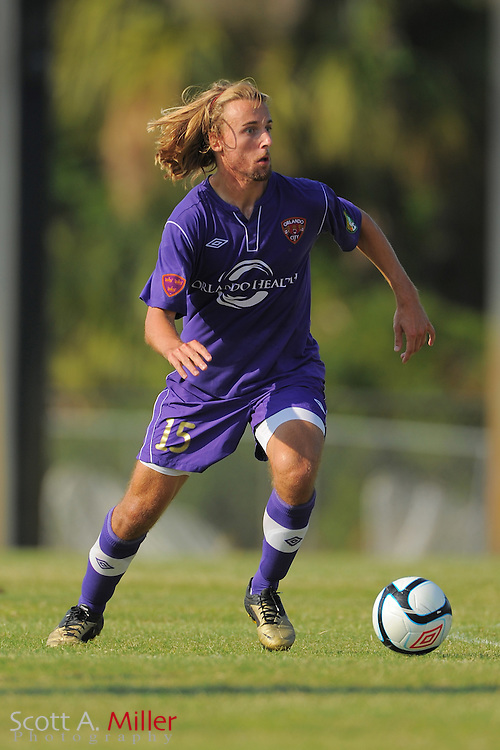 Orlando City U23s defender Ryan Griffin (15) during Orlando's game against the Ocala Stampede at the Seminole Soccer Complex Saturday on May 26, 2012 in Sanford, Fla. ...©2012 Scott A. Miller..