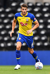 """Southampton's Wesley Hoedt during a pre season friendly match at Pride Park, Derby. PRESS ASSOCIATION Photo. Picture date: Saturday July 21, 2018. Photo credit should read: Anthony Devlin/PA Wire. EDITORIAL USE ONLY No use with unauthorised audio, video, data, fixture lists, club/league logos or """"live"""" services. Online in-match use limited to 75 images, no video emulation. No use in betting, games or single club/league/player publications."""