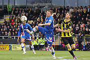 Gillingham forward Cody McDonald stretches for the ball during the Sky Bet League 1 match between Burton Albion and Gillingham at the Pirelli Stadium, Burton upon Trent, England on 30 April 2016. Photo by Aaron  Lupton.