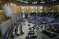 """22 MAR 2007, BERLIN/GERMANY:<br /> Uebersicht, Plenarsaal, Bundestagsdebatte zum Thema """"50 Jahre Roemische Verträge"""", Deutscher Bundestag<br /> IMAGE: 20070322-01-011<br /> KEYWORDS: Übersicht, Plenum, Reichstag, Bundesadler"""
