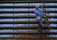 """Slovakia's (36) runs up the """"Green Monster"""" during the UCI Cyclocross World Championships held at Eva Bandman Park in Louisville, Kentucky, on February 2, 2013. © Dan Henry / BiciPhoto.com"""