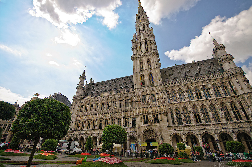 Brussels City Hall building in Grand Place, Brussels, Belgium
