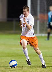 Virginia Cavaliers forward Brian Ownby (27) in action against UMD.  The Virginia Cavaliers fell to the Maryland Terrapins 2-1 in NCAA Soccer at Klockner Stadium on the Grounds of the University of Virginia in Charlottesville, VA on October 31, 2008.