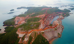 The iron ore operations on Koolan Island in Yampi Sound
