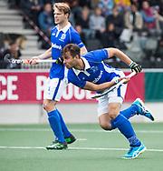AMSTELVEEN -  Martijn Havenga (Kampong)   tijdens  de  eerste finalewedstrijd van de play-offs om de landtitel in het Wagener Stadion, tussen Amsterdam en Kampong (1-1). Kampong wint de shoot outs.   COPYRIGHT KOEN SUYK