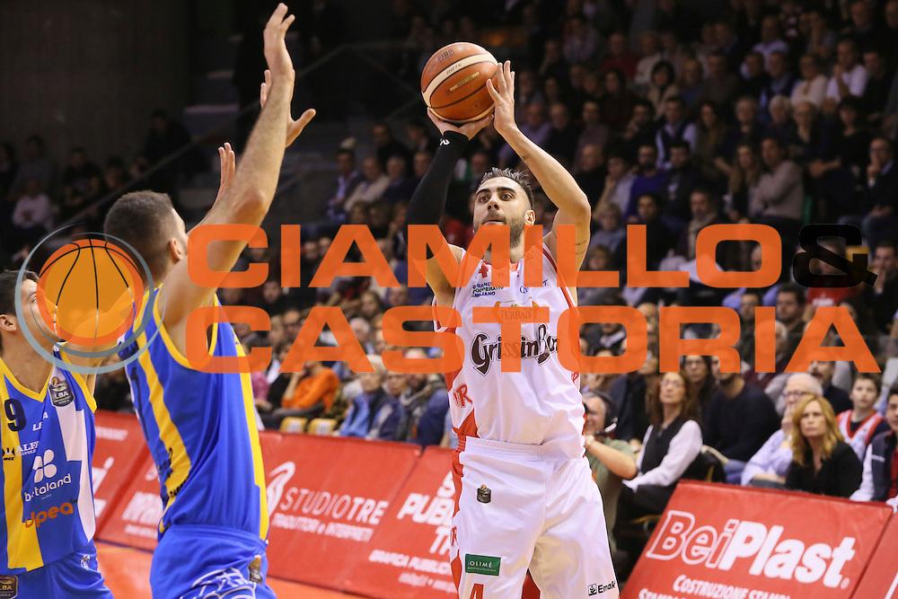 Pietro Aradori<br /> Grissin Bon Pallacanestro Reggio Emilia - Betaland Capo d' Orlando - <br /> Lega Basket Serie A 2016/2017<br /> Reggio Emilia, 05/12/2016<br /> Foto Ciamillo-Castoria